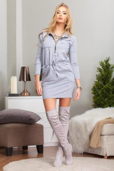 Suknelė Eda (šviesiai pilkos spalvos) Paveikslėlis 1 iš 3 310820032622