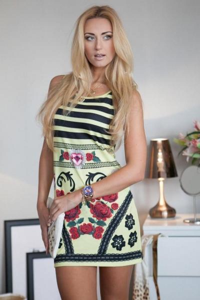 Suknelė Haifa (citrinos spalvos) Paveikslėlis 1 iš 3 310820046815