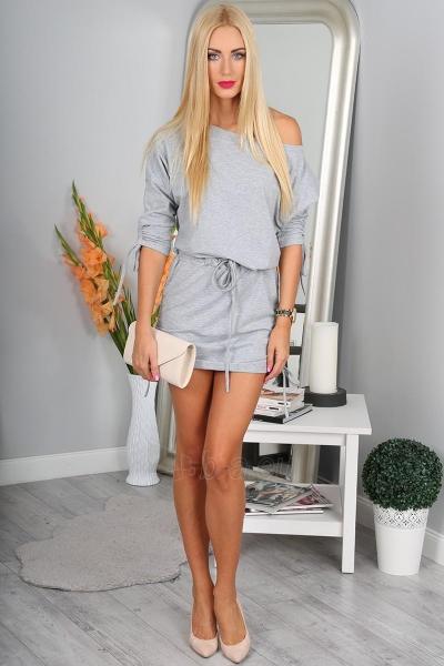 Suknelė Justina (šviesiai pilkos spalvos) Paveikslėlis 1 iš 4 310820046634