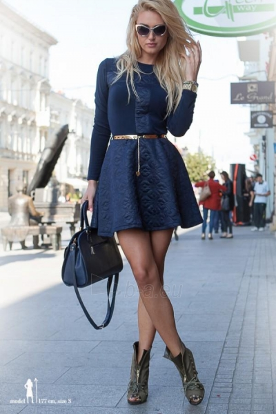 Suknelė Lauran (tamsiai mėlynos spalvos) Paveikslėlis 1 iš 5 310820032381
