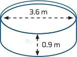 Sukomplektuotas apvalus lauko baseinas BASIC 360 white, su įranga ir priedais Paveikslėlis 4 iš 8 30092300013