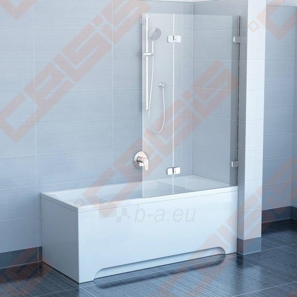 Sulankstoma dviejų dalių vonios sienelė RAVAK BVS2-100 su chromuotom detalėm ir skaidriu stiklu, dešinė pusė Paveikslėlis 1 iš 3 270717001138