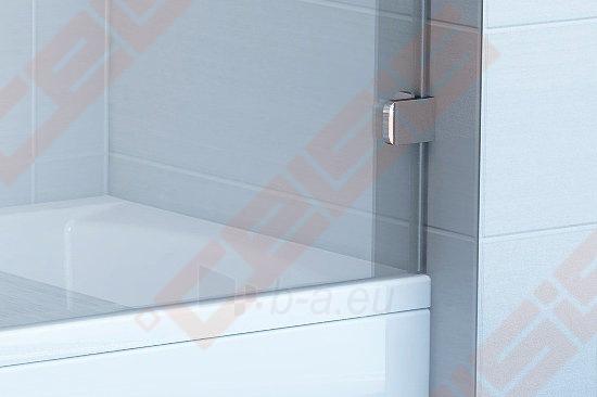 Sulankstoma dviejų dalių vonios sienelė RAVAK BVS2-100 su chromuotom detalėm ir skaidriu stiklu, dešinė pusė Paveikslėlis 2 iš 3 270717001138