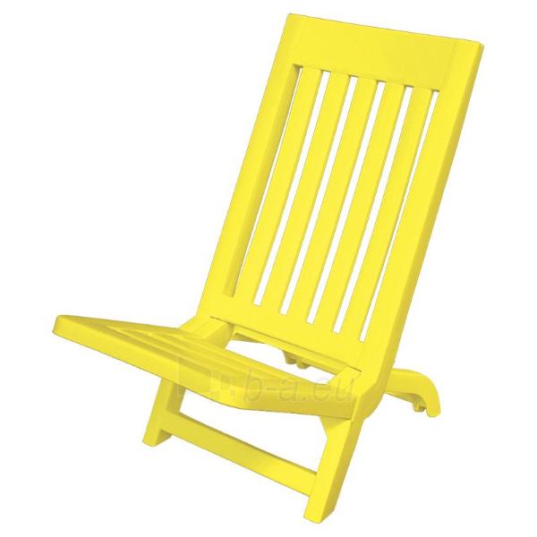 Sulankstoma paplūdimio kėdė Sammy (geltona) Paveikslėlis 1 iš 1 250402200068