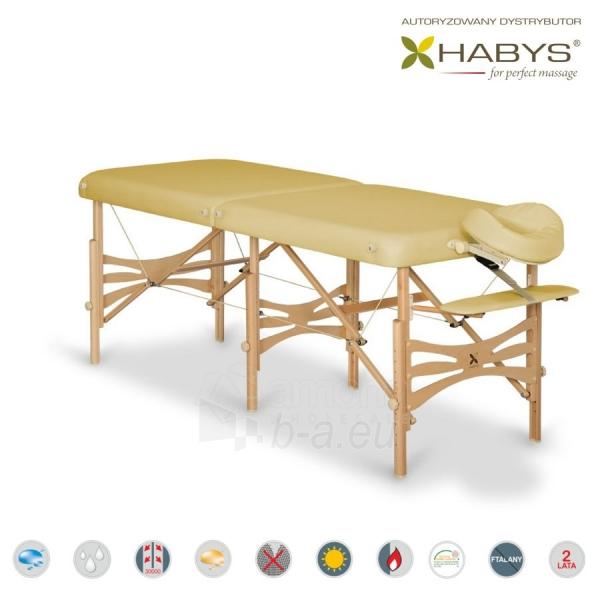 Sulankstomas masažo stalas HABYS Alba Soft Touch Beige Paveikslėlis 1 iš 3 310820200082