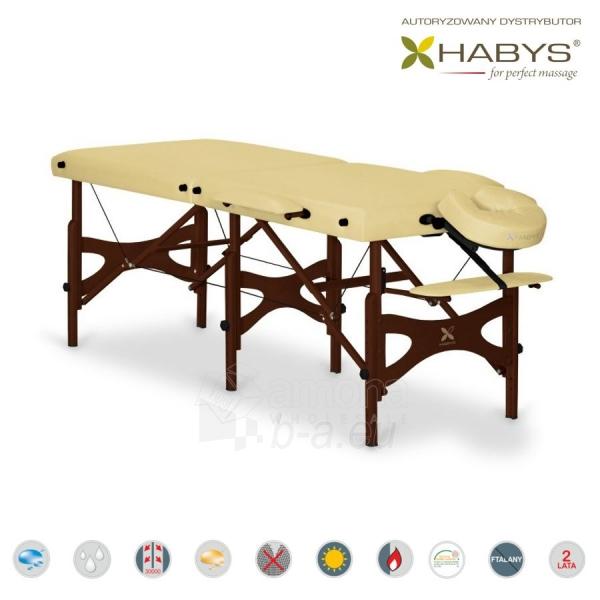 Sulankstomas masažo stalas HABYS Alba Soft Touch Beige Paveikslėlis 2 iš 3 310820200082