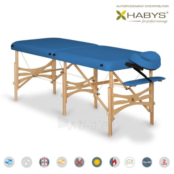 Sulankstomas masažo stalas HABYS Alba Soft Touch Blue Paveikslėlis 1 iš 3 310820200107