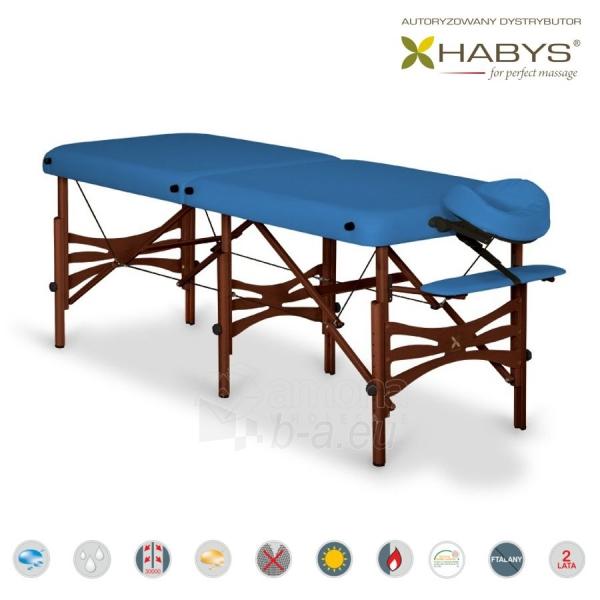 Sulankstomas masažo stalas HABYS Alba Soft Touch Blue Paveikslėlis 2 iš 3 310820200107