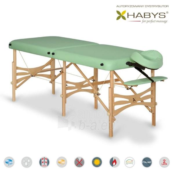 Sulankstomas masažo stalas HABYS Alba Soft Touch Pistachio Paveikslėlis 1 iš 3 310820200100