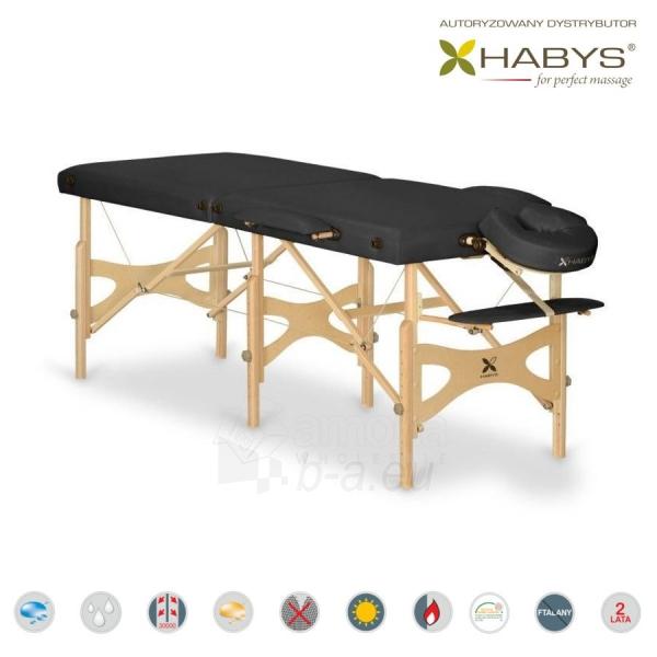 Sulankstomas masažo stalas HABYS Alba Vinyl Flex Black Paveikslėlis 1 iš 3 310820200101