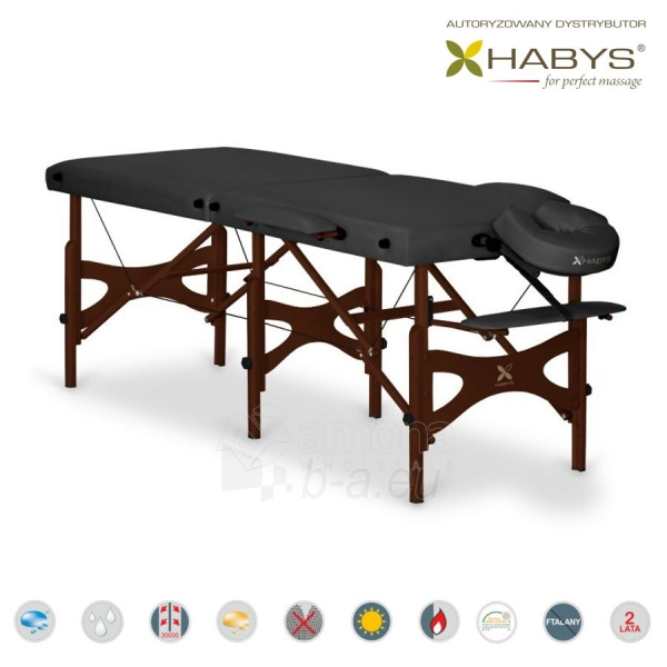 Sulankstomas masažo stalas HABYS Alba Vinyl Flex Black Paveikslėlis 2 iš 3 310820200101