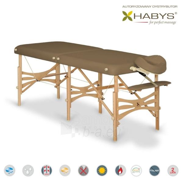 Sulankstomas masažo stalas HABYS Alba Vinyl Flex Brown Paveikslėlis 1 iš 3 310820200097