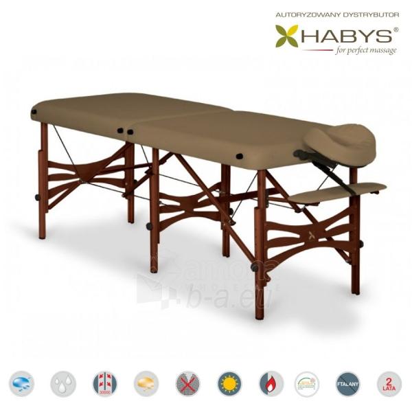 Sulankstomas masažo stalas HABYS Alba Vinyl Flex Brown Paveikslėlis 2 iš 3 310820200097