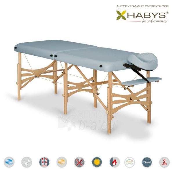 Sulankstomas masažo stalas HABYS Alba Vinyl Flex Grey Paveikslėlis 1 iš 3 310820200091