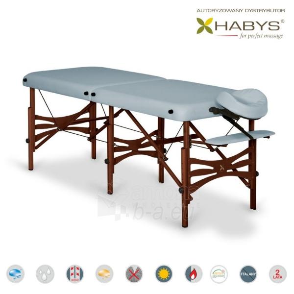 Sulankstomas masažo stalas HABYS Alba Vinyl Flex Grey Paveikslėlis 2 iš 3 310820200091