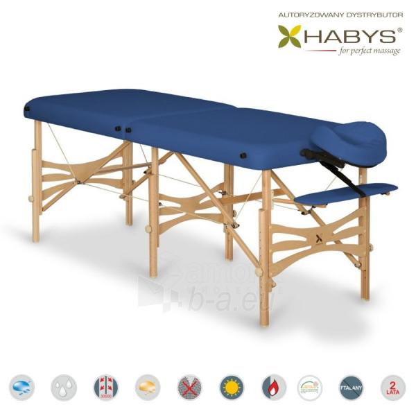 Sulankstomas masažo stalas HABYS Alba Vinyl Flex Navy Blue Paveikslėlis 1 iš 3 310820200074