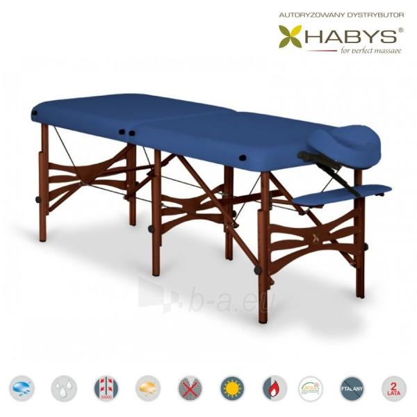 Sulankstomas masažo stalas HABYS Alba Vinyl Flex Navy Blue Paveikslėlis 2 iš 3 310820200074