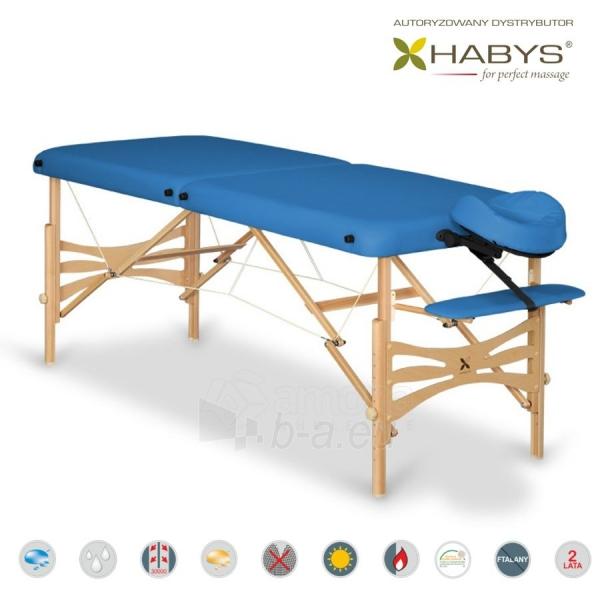 Sulankstomas masažo stalas HABYS Panda Soft Touch Blue Paveikslėlis 1 iš 3 310820200075