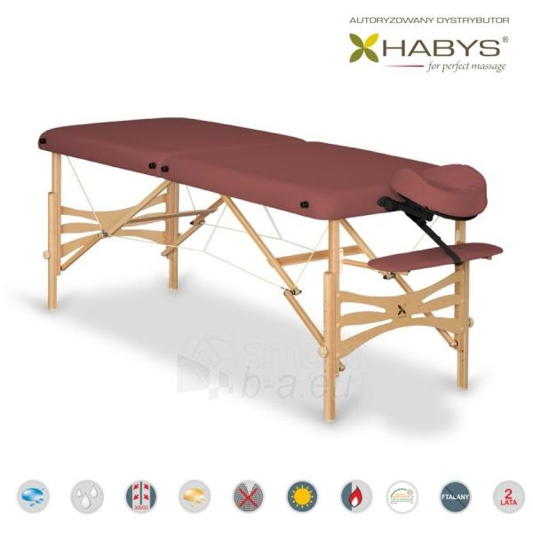 Sulankstomas masažo stalas HABYS Panda Soft Touch Burgundy Paveikslėlis 1 iš 3 310820200084