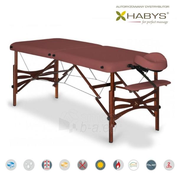 Sulankstomas masažo stalas HABYS Panda Soft Touch Burgundy Paveikslėlis 3 iš 3 310820200084