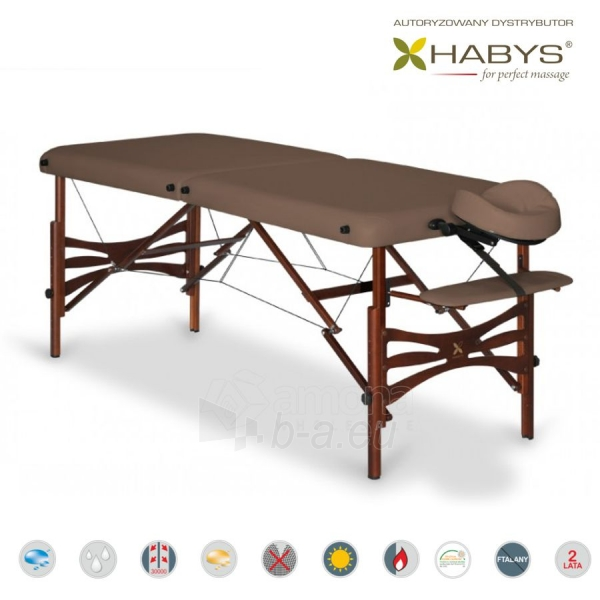 Sulankstomas masažo stalas HABYS Panda Soft Touch Dark Brown Paveikslėlis 3 iš 3 310820200093