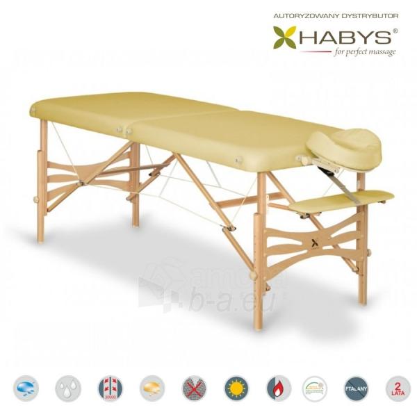 Sulankstomas masažo stalas HABYS Panda Soft Touch Gold Sand Paveikslėlis 1 iš 3 310820200081