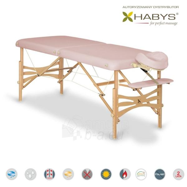 Sulankstomas masažo stalas HABYS Panda Soft Touch Light Pink Paveikslėlis 1 iš 3 310820200078