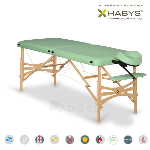 Sulankstomas masažo stalas HABYS Panda Soft Touch Pistachio Paveikslėlis 1 iš 3 310820200073