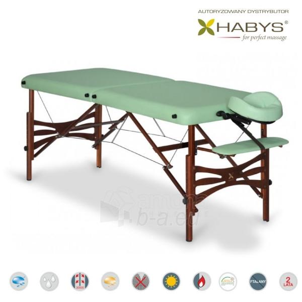Sulankstomas masažo stalas HABYS Panda Soft Touch Pistachio Paveikslėlis 2 iš 3 310820200073