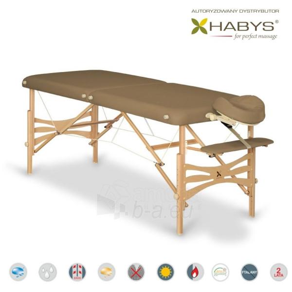 Sulankstomas masažo stalas HABYS Panda Vinyl Flex Brown Paveikslėlis 1 iš 3 310820200108