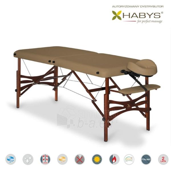 Sulankstomas masažo stalas HABYS Panda Vinyl Flex Brown Paveikslėlis 3 iš 3 310820200108