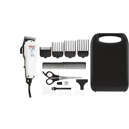 Šunų kirpimo mašinėlė WAHL Pet clipper ShowPro Corded, 4 attachment combs 3,10,13,25 mm, White Paveikslėlis 2 iš 2 310820162740