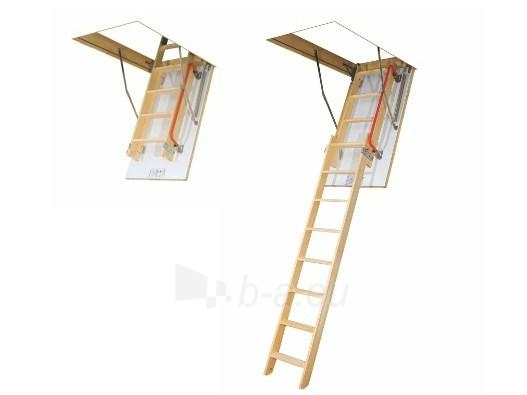 LDK double-section loft ladder with a slidable lower section FAKRO LDK  70x130x305 (wooden ladders) Paveikslėlis 1 iš 1 2379600000094