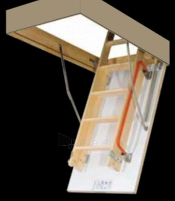 LDK double-section loft ladder with a slidable lower section FAKRO LDK 70x140x335 (wooden ladders) Paveikslėlis 2 iš 6 237960000057