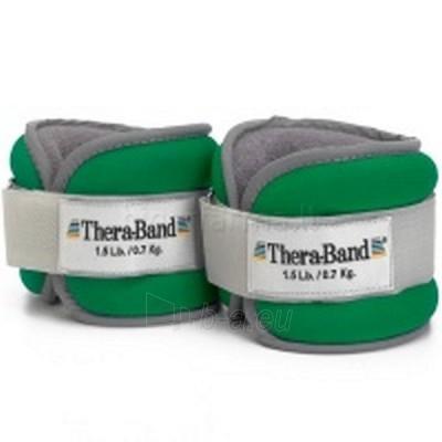 Svareliai - apyrankės (pora) THERA-BAND, žali 0,7 kg Paveikslėlis 1 iš 1 250620600030