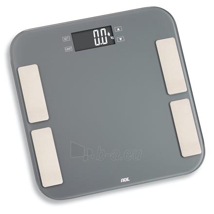 Svarstyklės ADE Scale Malou BA1807 Body analyzer, Maximum weight (capacity) 180 kg, Accuracy 100 g, Body Mass Index (BMI) measuring, Grey Paveikslėlis 1 iš 2 310820221836