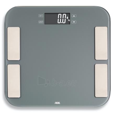 Svarstyklės ADE Scale Malou BA1807 Body analyzer, Maximum weight (capacity) 180 kg, Accuracy 100 g, Body Mass Index (BMI) measuring, Grey Paveikslėlis 2 iš 2 310820221836