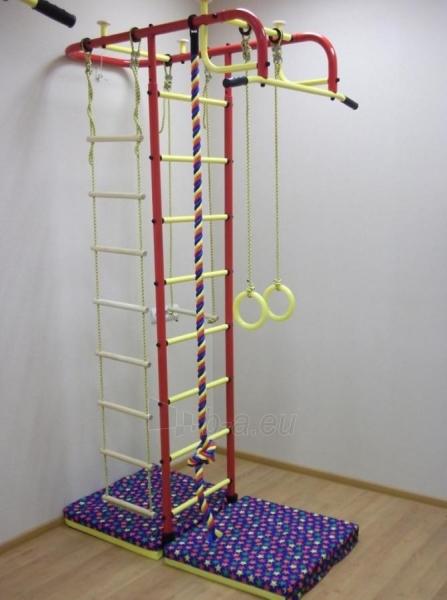 Švediška gimnastikos sienelė Pioner-A, raudona/geltona Paveikslėlis 4 iš 5 310820040608