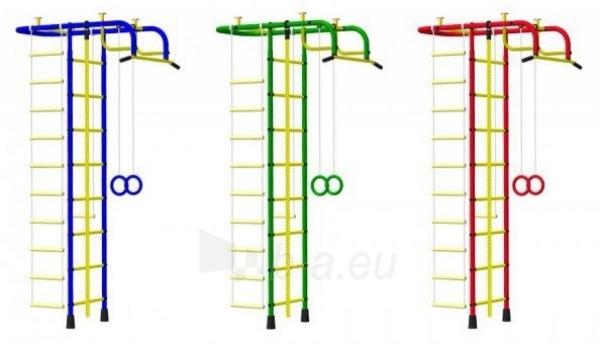 Švediška gimnastikos sienelė Pioner-A, raudona/geltona Paveikslėlis 5 iš 5 310820040608