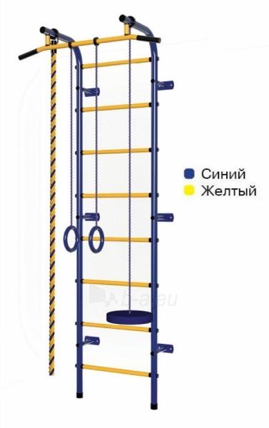 Švediška gimnastikos sienelė Pioner-C1H, mėlyna/geltona Paveikslėlis 1 iš 5 310820040603