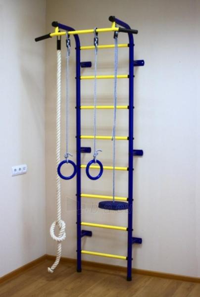 Švediška gimnastikos sienelė Pioner-C1H, mėlyna/geltona Paveikslėlis 4 iš 5 310820040603