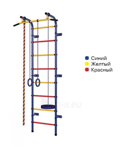 Švediška gimnastikos sienelė Pioner-C1H, mėlyna/raudona/geltona Paveikslėlis 1 iš 3 310820040604