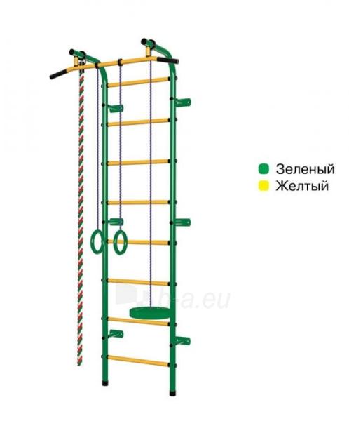 Švediška gimnastikos sienelė Pioner-C1H, žalia/geltona Paveikslėlis 1 iš 3 310820040605