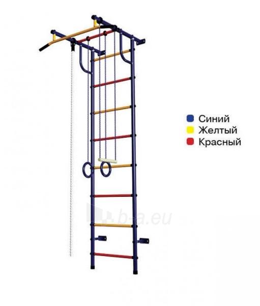 Švediška gimnastikos sienelė Pioner-C2H, mėlyna/raudona/geltona Paveikslėlis 1 iš 4 310820040596