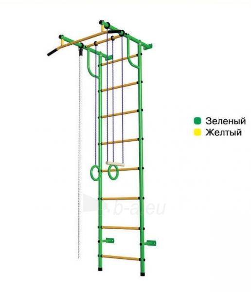 Švediška gimnastikos sienelė Pioner-C2H, žalia/geltona Paveikslėlis 1 iš 4 310820040597