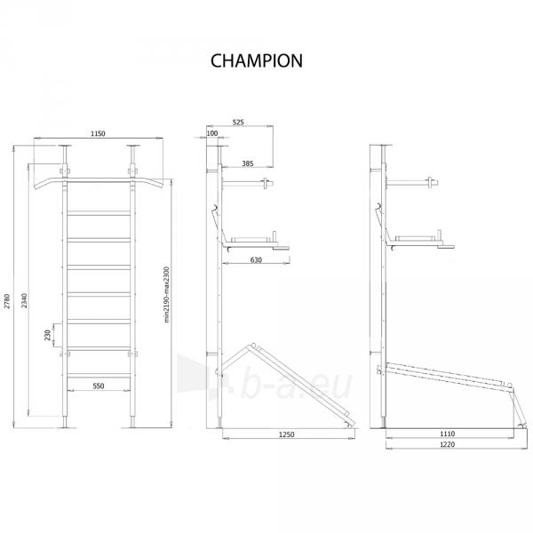 Švediška sienelė Wall Bars Benchmark Champion Paveikslėlis 9 iš 9 310820206682
