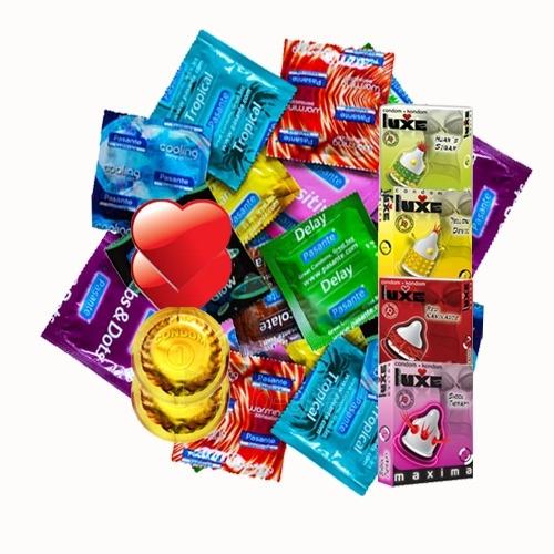 Šventinis prezervatyvų rinkinys Mylėkimės Paveikslėlis 1 iš 3 2514135000258