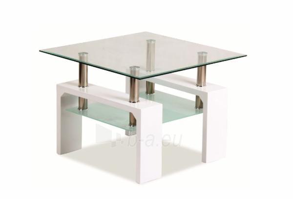Svetainės staliukas Lisa D Basic balta lakuota Paveikslėlis 1 iš 1 310820018655