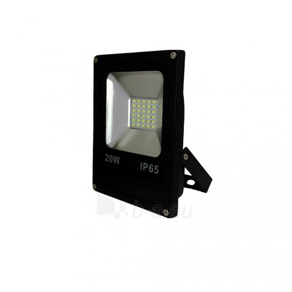 Šviestuvas ART External lamp LED 20W,SMD,IP65, AC80-265V,black, 4000K-W Paveikslėlis 1 iš 4 310820049432