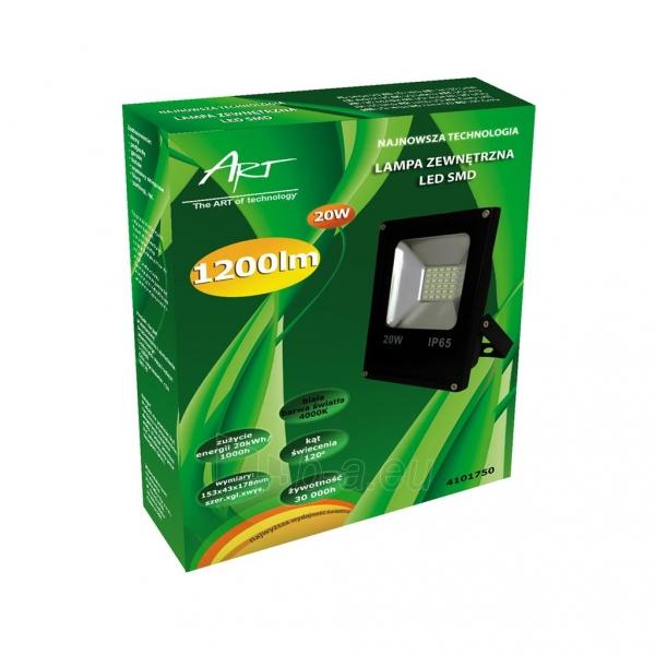 Šviestuvas ART External lamp LED 20W,SMD,IP65, AC80-265V,black, 4000K-W Paveikslėlis 2 iš 4 310820049432